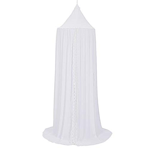 C-J-Xin Breathable Ceiling Tent, Children's Room Decoration Tent Family Reading Corner Canopy Bedcover Bed Canopy Mosquito Net Play Tents (Color : White, Size : 60 * 240CM)