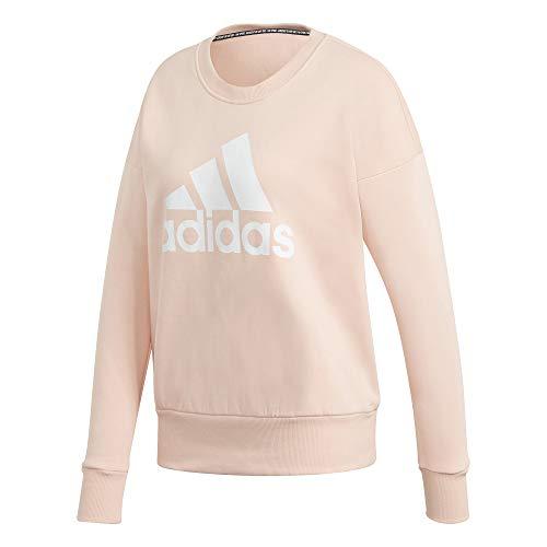 adidas Damen Sweatshirt Badge of Sport Crew Sweatshirt, Haze Coral, S, GC6926