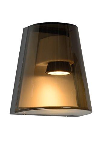 Lucide FREO - wandlamp buiten - GU10 - IP54 - rookkleur grijs