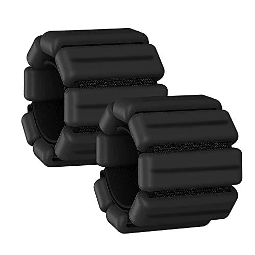 TYCOLIT Un par de Pesas de Tobillo y Muñeca de 1 KG para Entrenamiento de Fuerza, Muñequeras de Silicona de Peso Ajustable para Yoga, Baile, Correr, Caminar, Fitness