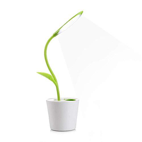 iEGrow - Lámpara de escritorio led regulable (1W, cuello flexible)