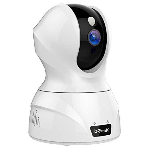 最新WiFi強化改良版ieGeek ネットワークカメラ 300万画素 自動追跡 顔認識 1536P ペット留守 監視カメラ WiFi スマホ 遠隔操作 双方向音声 動体検知 暗視撮影 IP カメラ 見守り 自動追尾カメラ 録画 室内 防犯 暗視 子供 猫 犬 介護 日本語アプリ&取説 白色 2.4G WIFI対応