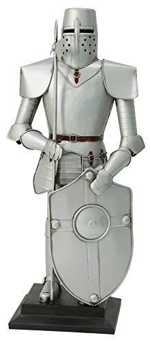 Ritterheim Armadura de Caballero Figura Medieval Decoración con Hierro y Escudo 45 cm