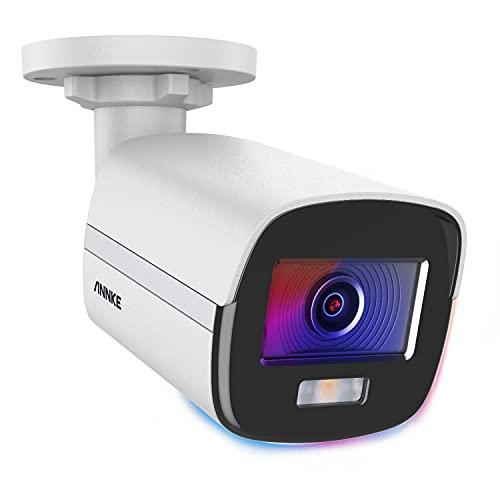 ANNKE NC400 Bala 4MP Super HD PoE Verdadero Visión Nocturna en Color, H.265+, CCTV Cámara de Vigilancia IP para Exterior/Interior