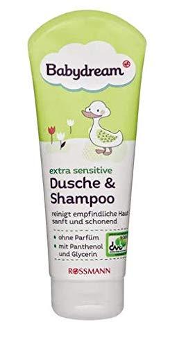 Babydream extra sensitiv Dusche & Shampoo - reinigt empfindliche Haut sanft & schonend - 200 ml