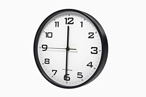 Vremi 10 inch Silent Universal Round Wall Clock