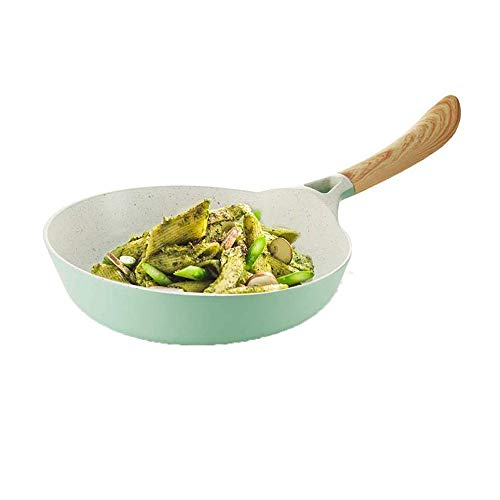WYKDL Pot Maifan Stein Pan Antihaft-Bratpfanne Chinese Style Mint Green Pot Induktions-Herd Gasherd Universal-Antihaft-Pfanne Kleine Hebt Pot