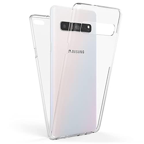 NALIA 360 Grad Handyhülle kompatibel mit Samsung Galaxy S10 5G, Full-Cover Silikon Bumper Bildschirmschutz vorne Hardcase hinten, Hülle Komplettschutz Dünn Fullbody Hülle Handy-Tasche
