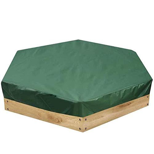 Congci Oxford Sandbox Cover Protección de Juguetes para niños A Prueba de Polvo Impermeable Cubierta de arenero Hexagonal con cordón para el jardín al Aire Libre
