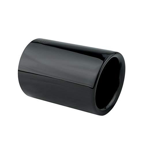 L&P A303 1 Auspuffblende 70mm Edelstahl Schwarz poliert Black Schwarz Chrom Plug&Play Endrohrblenden Endrohrblende Auspuff Blende Endrohre OEM 18307610636 18307610635 18307610634
