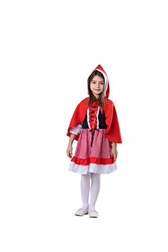 Dress Up America- Costume da Cappuccio Rosso da Equitazione per Bambini Lil' Kinder Rotkäppchen-Kostüm, Multicolore, taglia 1-2 anni (vita: 61-66, altezza: 84-91 cm), 543-T2