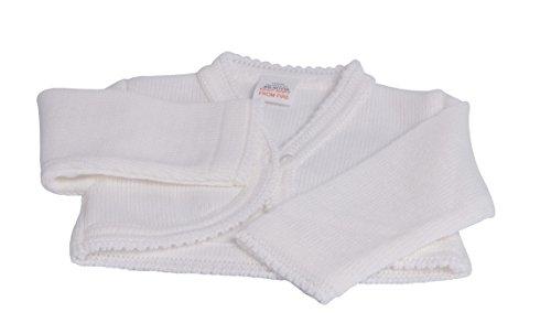 Baby Meisjes Gebreid Bolero Vest door Dandelion Newborn Kleur: wit