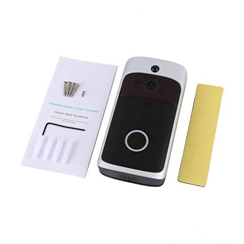 M3 Nachtzicht WIFI Smart Video Deurbel Draadloze draadloze telefoon Intercom Zwart