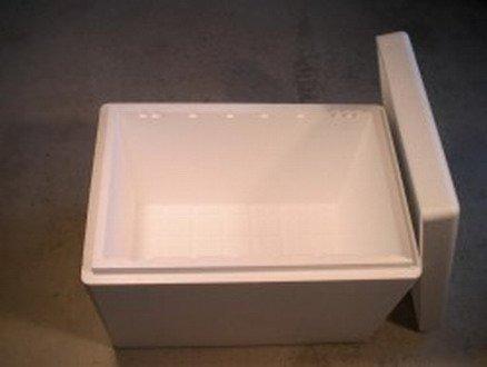 WFW wasserflora 100 Liter 3XL Isolier-Box - 720 x 480 x 300 mm - Styropor Box, Wandstärke 30 mm