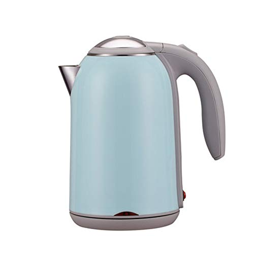 Wasserkocher Edelstahl Elektrischer Wasserkessel 1.7L, 1800W Auto-off & Trockenlaufschutz, ideal für Kaffee, Tee, Haferflocken, Babynahrung von/Lake blue