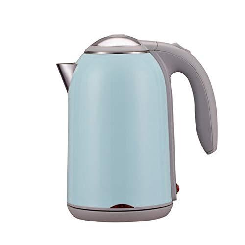 Waterkoker roestvrij staal elektrische waterketel 1,7 l, 1800 W auto-off & droogloopbeveiliging, ideaal voor koffie, thee, havervlokken, babyvoeding Meerblauw