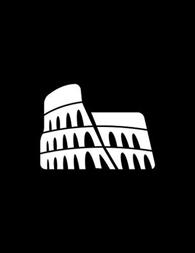 Calcomanía Coliseo Romano Coliseo Calcomanía de vinilo Anfiteatro Flaviano Maravilla del Mundo Calcomanías de Roma Calcomanías de Italia calcomanías de viaje adhesivo de vinilo extraíble, 6 pulgadas