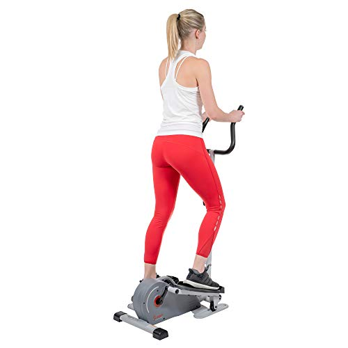 Product Image 7: Sunny Health & Fitness Magnetic Standing Elliptical with Handlebars – SF-E3988, Grey