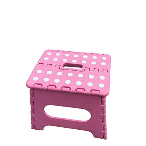 Booding Tritthocker faltbar zusammenklappbarer Klapphocker Hocker klappbar Step Stool faltbar Fußbank und Aufstiegshilfe für Kinder SRosa