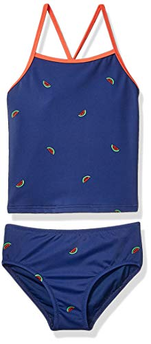 Amazon Essentials Girl's 2-Piece Tankini Set, Watermelons, Small