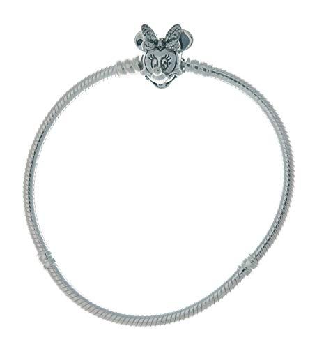 Disney Pavé Minnie Maus-Kugelverschluss Schlangen-Gliederarmband