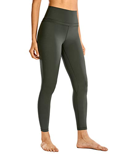 CRZ YOGA Women's Naked Feeling I High Waist Tight Yoga Pants Workout Leggings-25 Inches Olive Green 25'' - R009 Medium