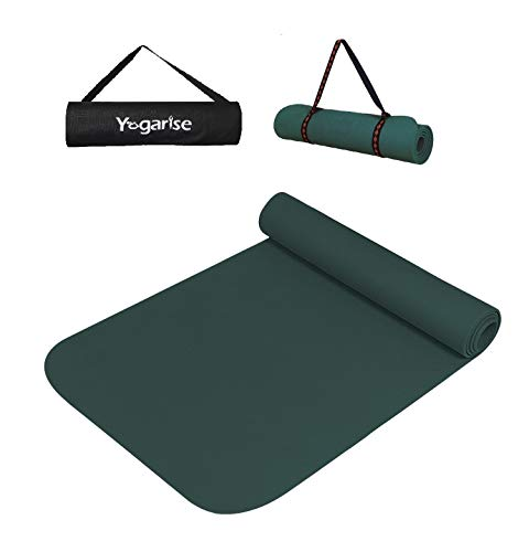 Yogarise Yoga & Exercise Mat for Gym Workout and Flooring Exercise for Men and Women with Bag and Strap