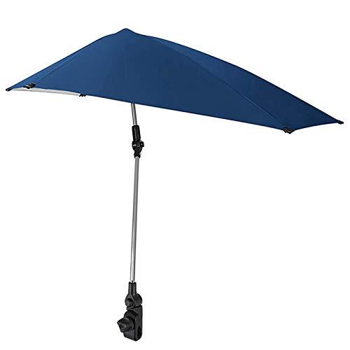 Lepeuxi Sombrilla Plegable portátil para Silla de Playa, sombrilla de Verano para Bicicleta, Paraguas Ajustable con Abrazadera Universal, sombrilla de Pesca para Cochecito, Silla de Playa, gradas