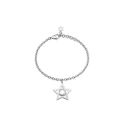 MORELLATO Damen-Charm-Armbänder Edelstahl Kristall SAKI07