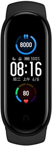 Xiaomi Mi Band 5 Fitness Tracker, la más reciente pantalla AMOLED de color negro de 1.1 pulgadas