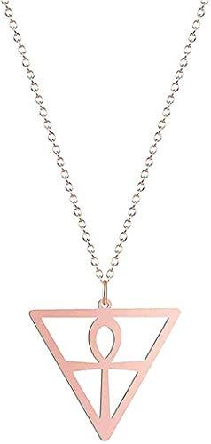 LBBYMX Co.,ltd Collar de Moda Collar de Acero Inoxidable Amuleto Collares para Mujeres Hombres Ojo Cruzado O Triángulo Collar Charm Jewelry Regalo Ideal Longitud de Cadena 50cm