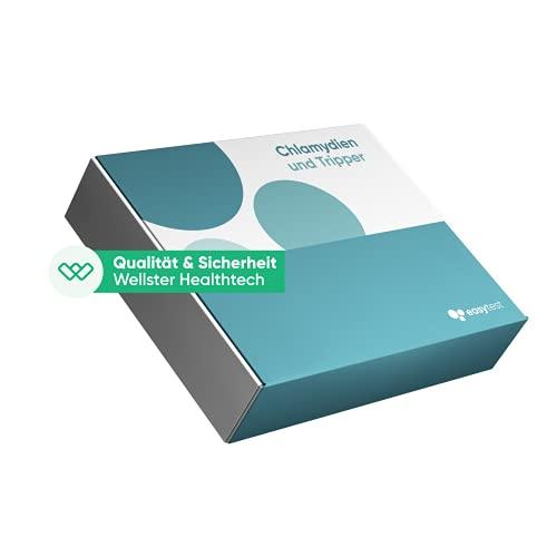 EasyTest Chlamydien & Gonorrhoe – Geschlechtskrankheiten schnell easy zu Hause testen, Zertifiziertes Labor 100{f12a963c64729d3415aa99fe1eff4fd5ebe737386b7e76c77cbf7c44fbe50251} diskret…