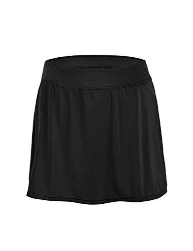 ninovino Damen-Baderock, Übergröße, einfarbig, Taillenbund, Schwarz, US22