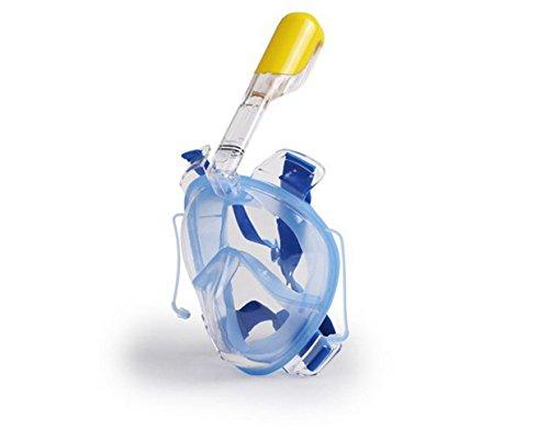 Un punto Máscara de snorkel para adultos y jóvenes. Libre De Full Face Diseño de respiración. Artifact Buceo Face Espejo Sambo Full seco nasal Tubo de respiración Máscara