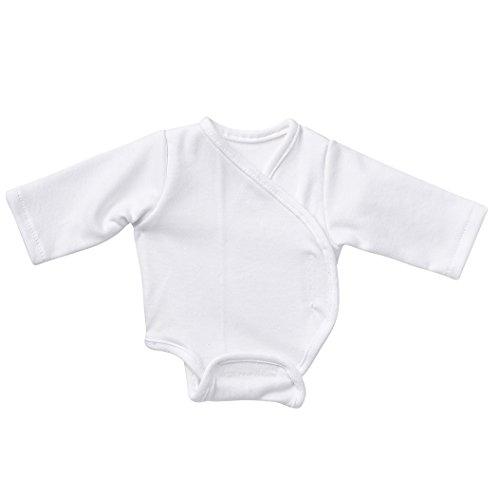 Unbekannt Schwenk Puppenkleidung, Body Langarm, Weiss, für 30 bis 33 cm große Babypuppen