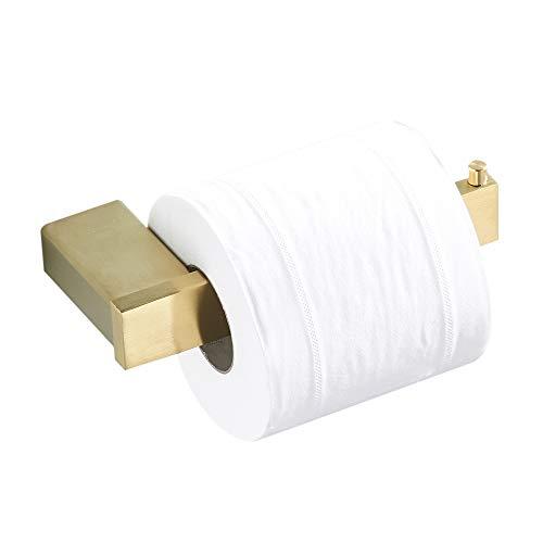 BigBigHome Golden Enkele Handdoek Bar, RVS Wandmontage Handdoek Houder Geborsteld Goud Badkamer Accessoires
