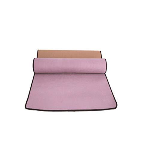 JWGD Tapis de Yoga, Tapis de Yoga Maison, Caoutchouc Lin Yoga Slip-Mat Non, Couleur: Deep Blue, Violet élégant, Taille: 183cmX61cm, épaisseur: 4 mm, (Couleur : Brown, Taille : 183cmX61cm)