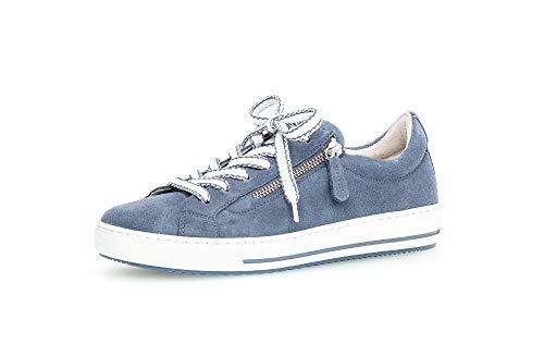 Gabor Damen Sneaker, Frauen Low-Top Sneaker,Comfort-Mehrweite,Reißverschluss,Optifit- Wechselfußbett, Freizeit,Nautic (Nautic k.),42 EU / 8 UK