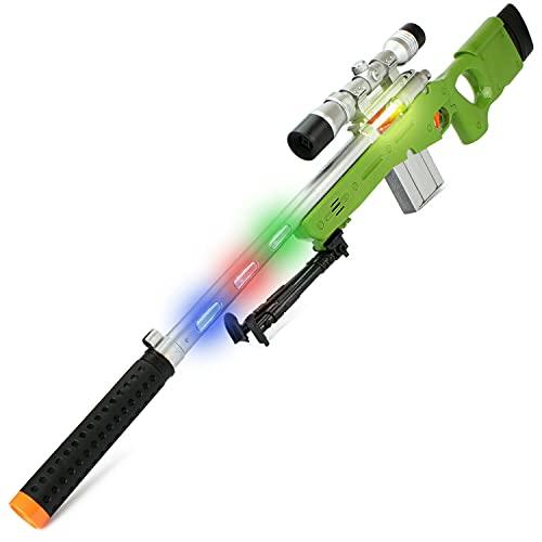 Sniper SCHARFSCHÜTZENGEWEHR Elite mit Sound & Licht AWP Gewehr Fasching Kostüm
