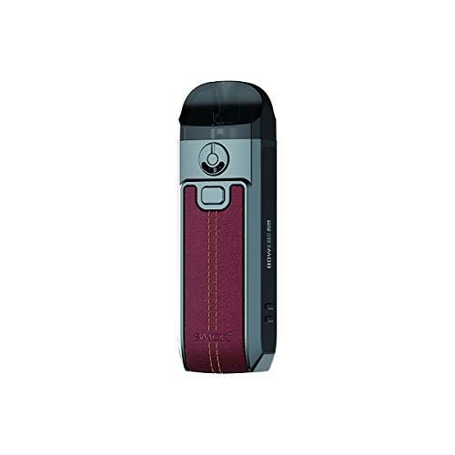 S-Mok Nord 4 Kit (cuero rojo), cápsula de cigarrillo electrónico con batería de 2000 mAh Equipada con cápsulas de cartucho de 4,5 ml/bobina de malla RPM 2, vaporizador, sin nicotina