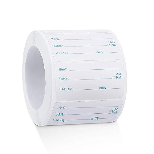 WISETOP Etichette per alimenti, 500 pezzi Etichette solubili per alimenti Etichette adesive rimovibili per alimenti Adesivo per congelatore per contenitori in vetro, metallo, plastica