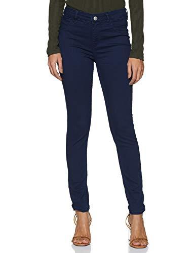 Park Avenue Women Women's Slim Fit Pants (PWTY01001-K6_Black_66)