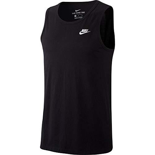 Nike M NSW Club-Tank, Canottiera Sportiva Uomo, Black/(White), XS