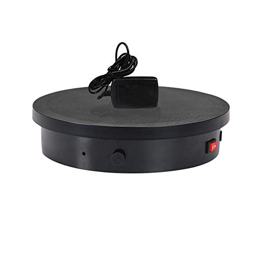 HHXD Base Giratoria Eléctrica,360° Plataforma Rotatoria con Velocidad de Rotación Ajustable,Para Exhibición...