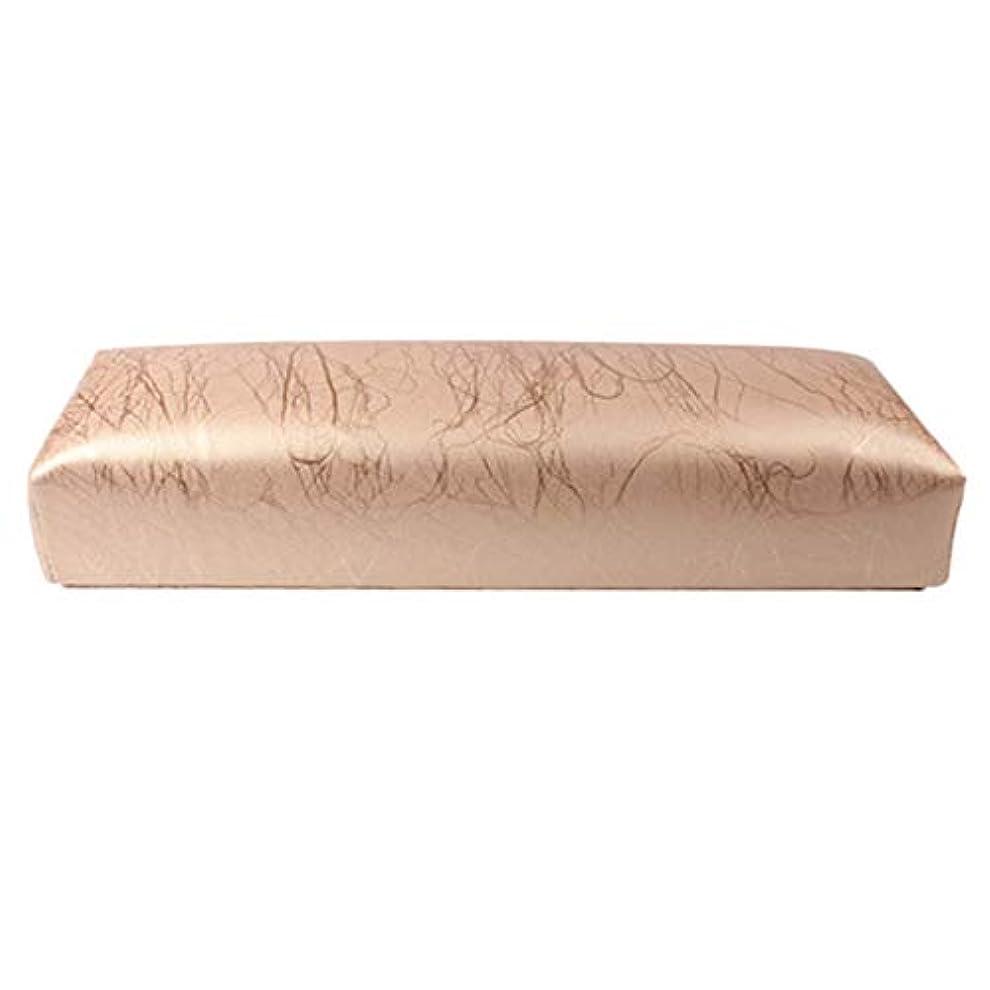 思われるくるみモーターTOOGOO ネイル用マニキュアハンド枕長方形PUレザーハンドレストクッションネイルピローサロンハンドホルダーアームレストレストマニキュアネイルアートアクセサリーツールゴールド