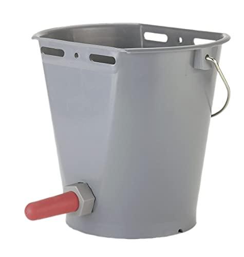 Kerbl Küber 144 Seau à abreuvoir avec soupape d'aspiration (abreuvoir pour bovins, avec super ventouse et vanne à vis, contenance 8 litres)