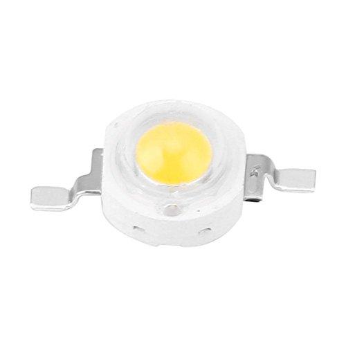 Raguso 100 Unids 3W Granos LED de Alta Potencia Chips de diodos emisores de luz SMD para Accesorios de iluminación de Bricolaje Proyector Proyector Luz Blanca cálida LED para (blanco6000-6500K)