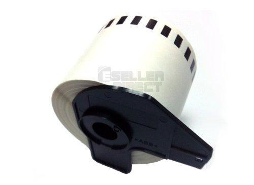 Eseller Direct® - 50 X Compatible DK22205 Continua Etiquetas de Dirección Brother P – Touch Ql 570 Rollo de Papel Térmico - 62 mm X 30.48M (50 Rollos con Soporte)