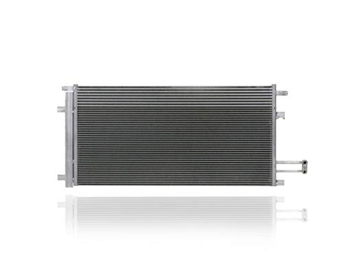 A/C Condenser - Pacific Best Inc. For/Fit 4283 14-19 Chevrolet Silverado/GMC Sierra 1500 5.3L/6.2L 15-19 Suburban/Tahoe - Additional Reinforcement Design With Receiver Dryer, Transmission Oil Cooler