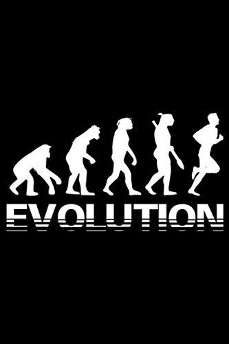 Evolution Running: A5 Liniertes Notizbuch auf 120 Seiten - Laufen Notizheft   Geschenkidee für Läufer, Marathon und Triathlon Läufer, Jogger